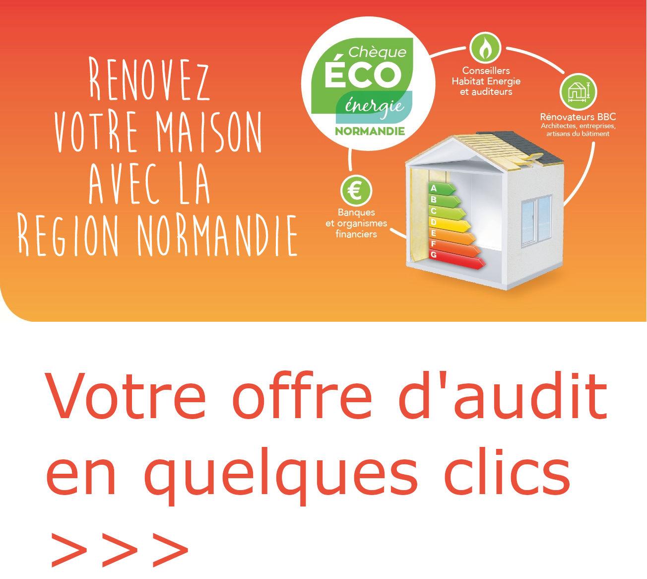 audit énergétique particulier, eco chèque énergie normandie